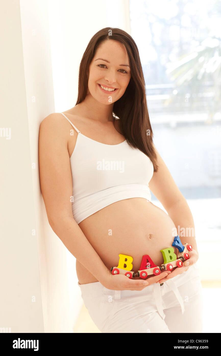 Schwangere Frau. Stockbild
