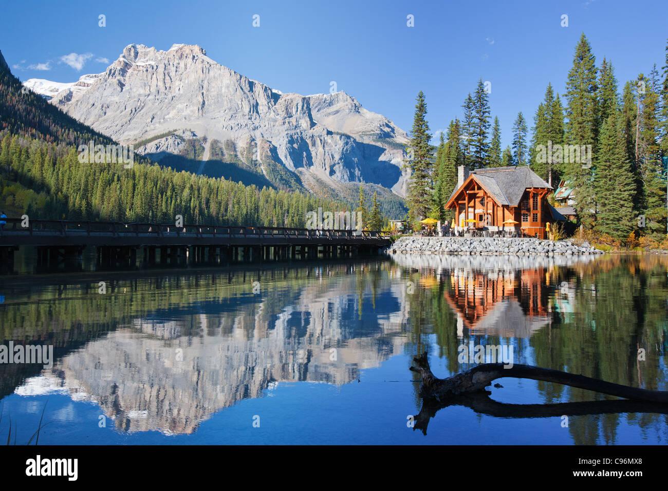 Emerald Lake in Alberta, Kanada Stockbild