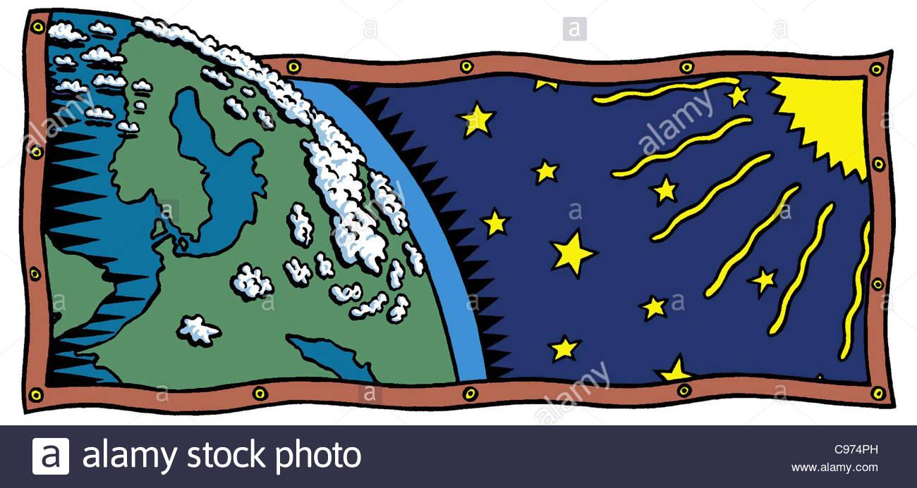 Erde und Sonne Globus Globe Geographie Globe Globus Weltkarte Kartensoftware Geog Stockbild