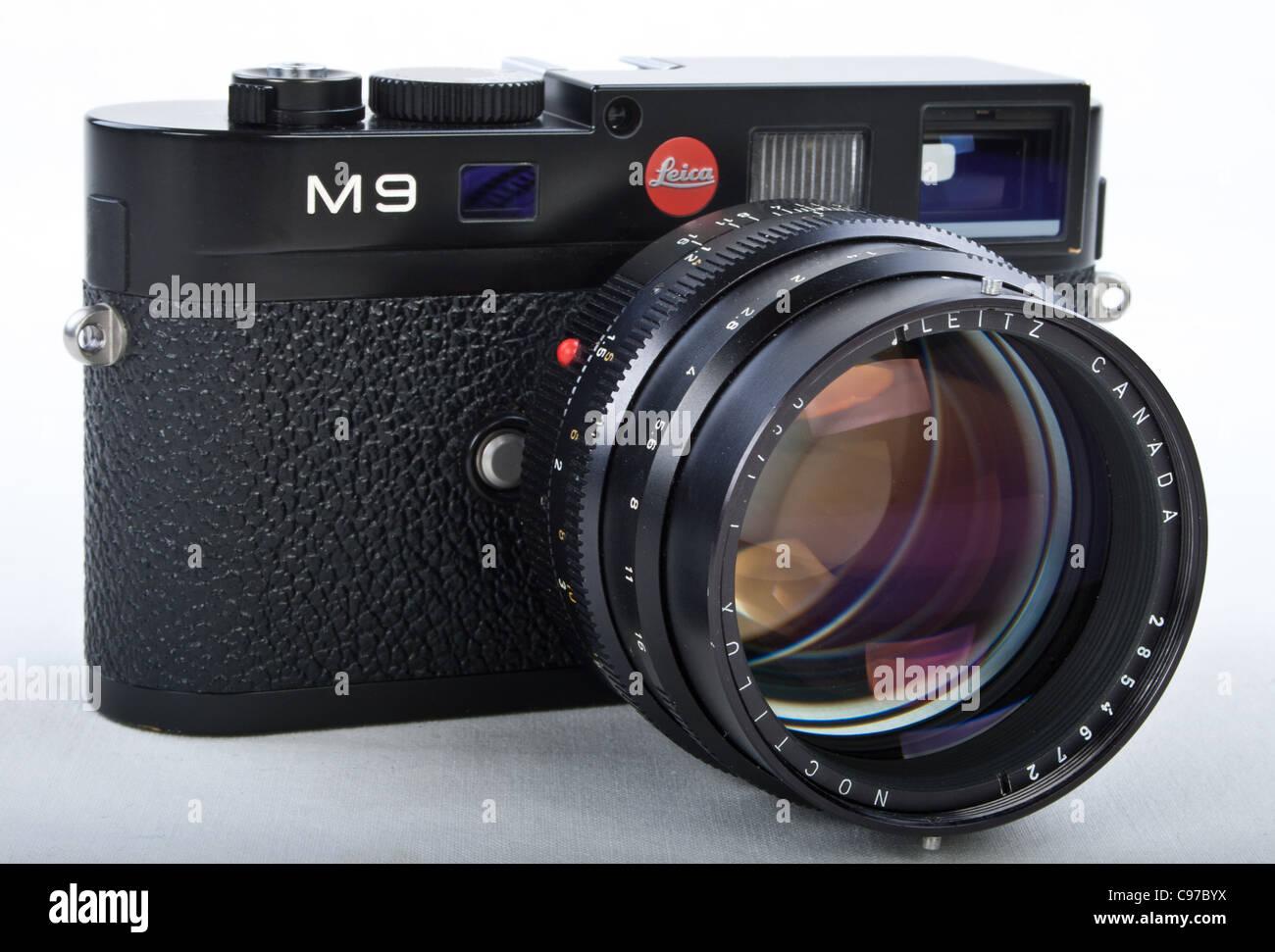 Leica m digital entfernungsmesser kameragehäuse mit noctilux f