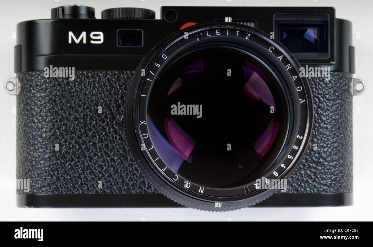 Leica m9 digital entfernungsmesser kameragehäuse mit noctilux f1