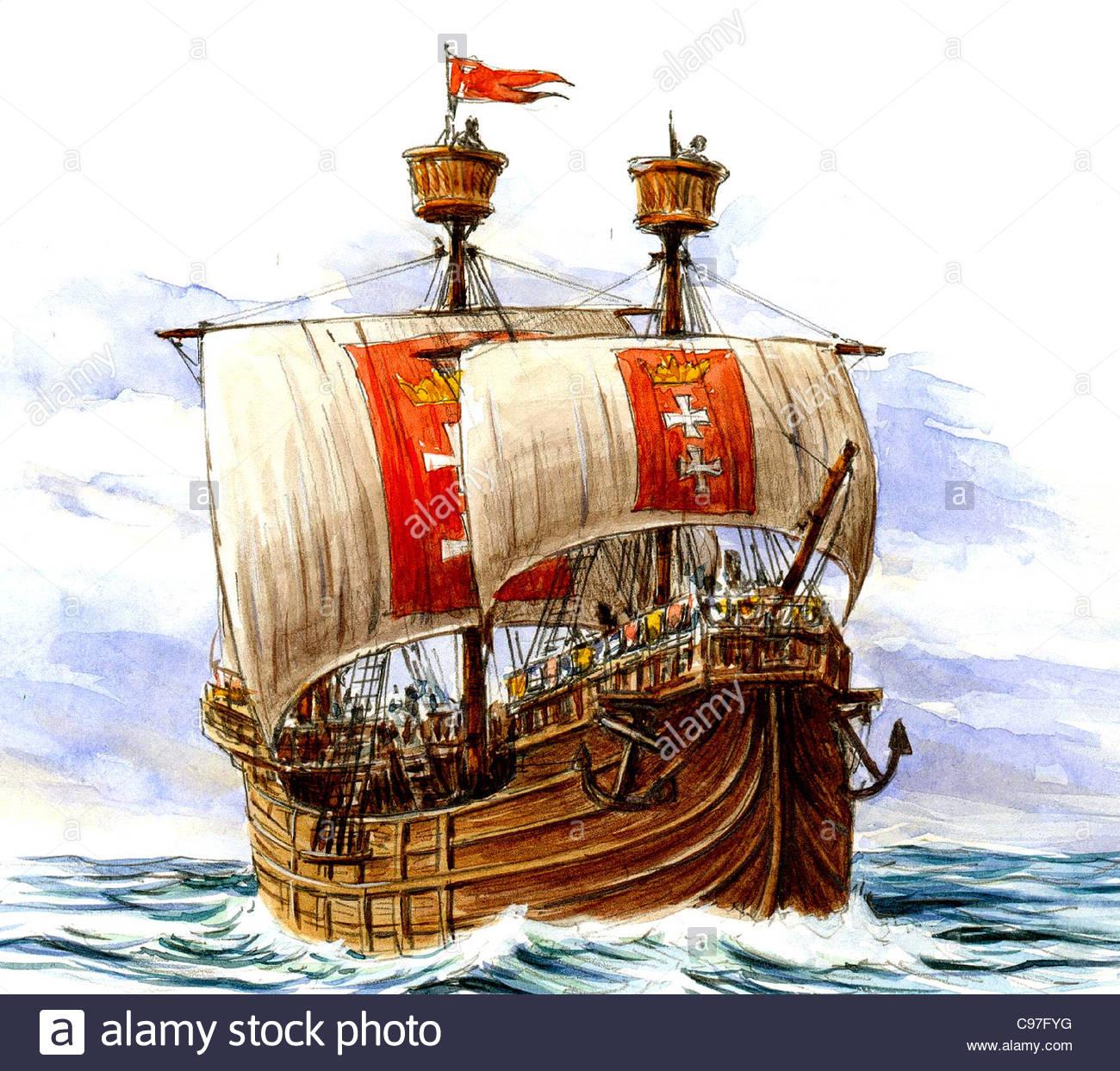 Serie schiffe hanse kogge schiff schiffe versandart versand seefahrt schiff s c97fyg
