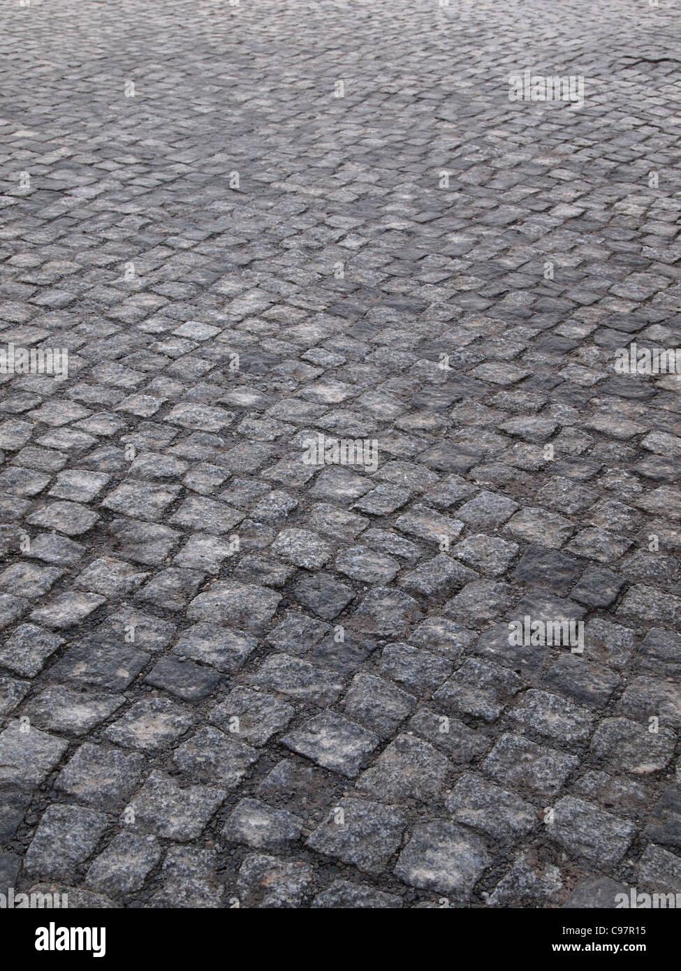 gepflasterten Straße Stockbild