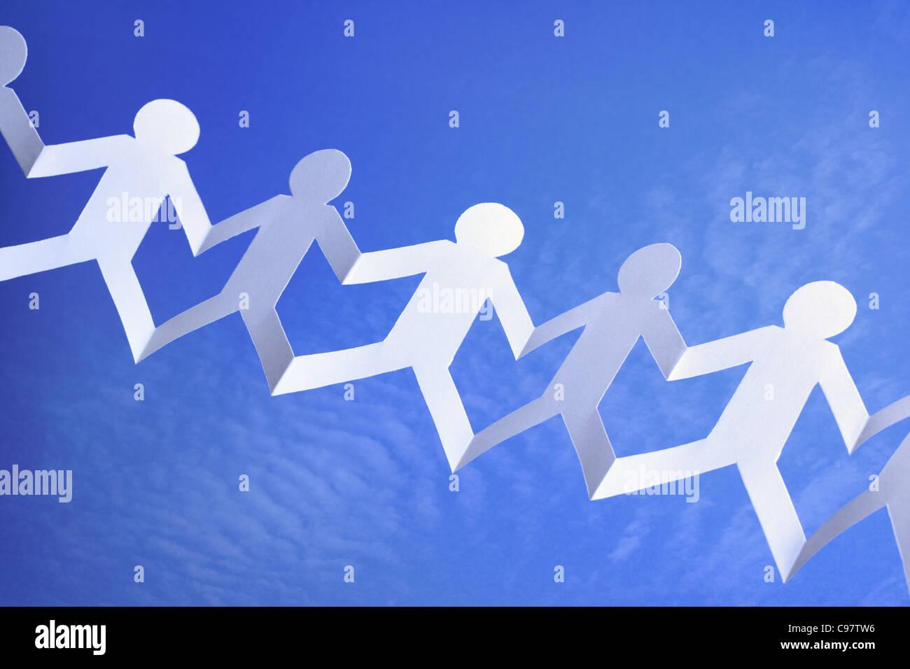 Zusammenarbeit und Vernetzung Stockbild