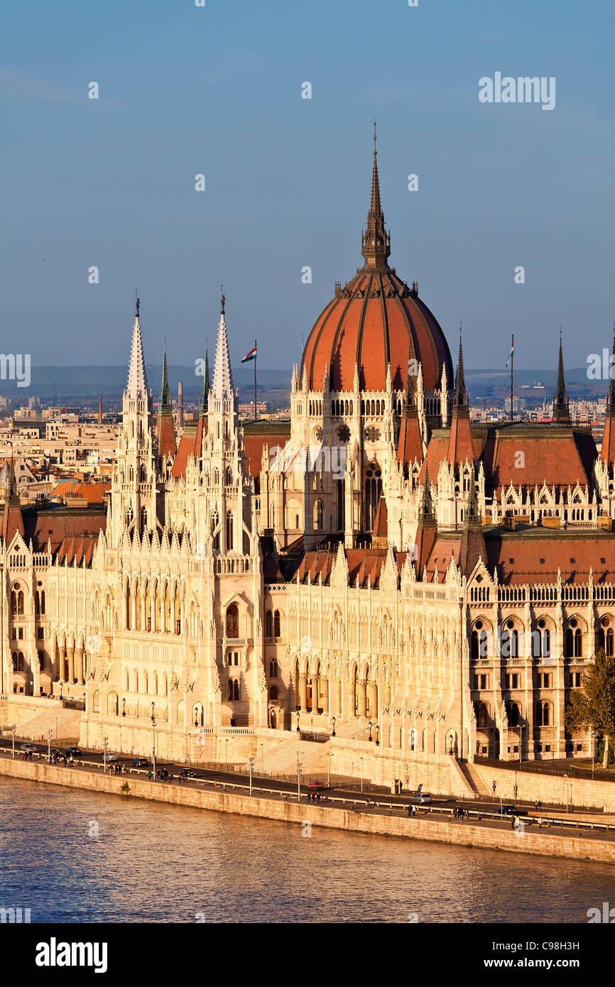 Europa, Europa-Zentrale, Ungarn, Budapest, Parlamentsgebäude Stockbild