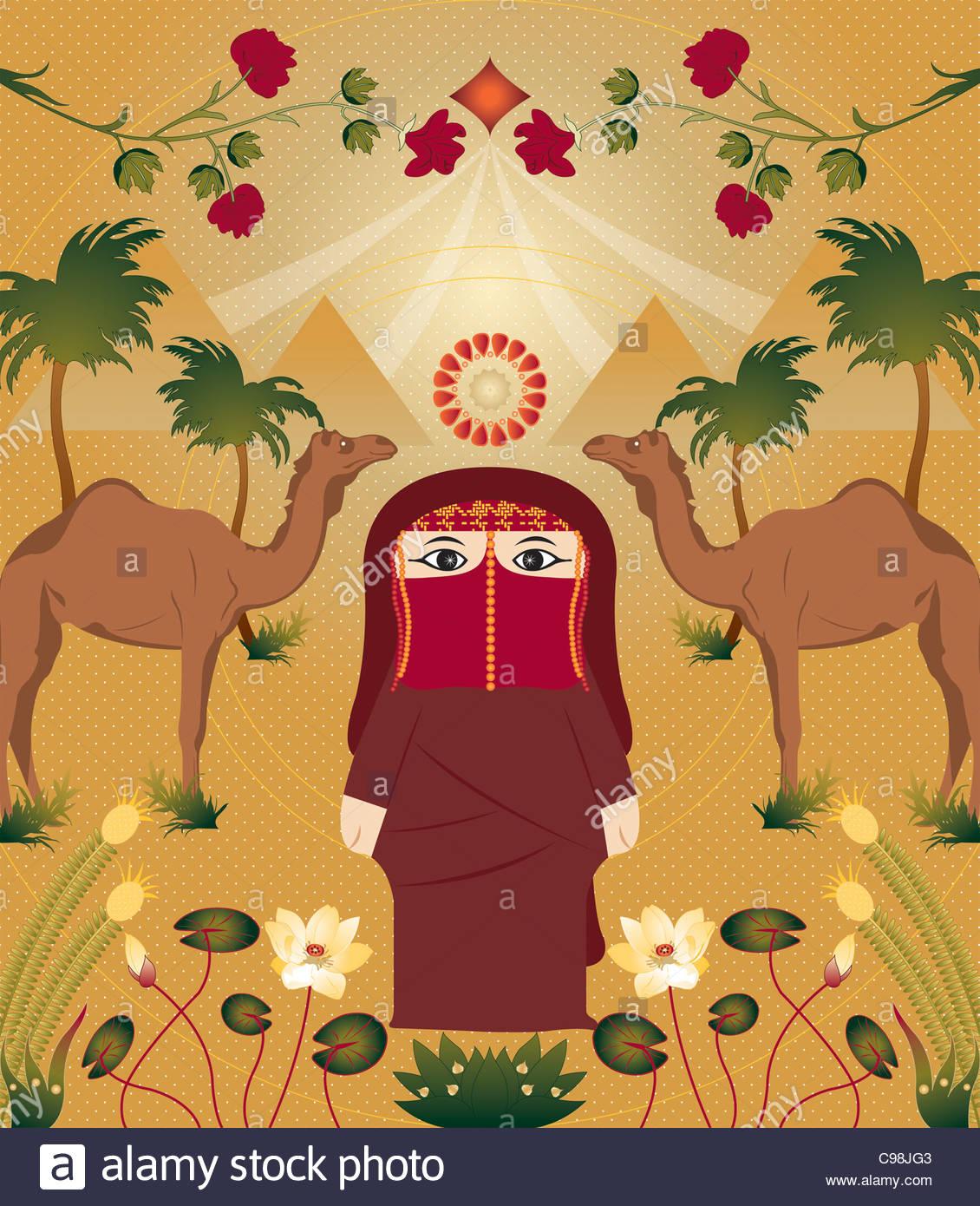 Hana in Ägypten Stockbild