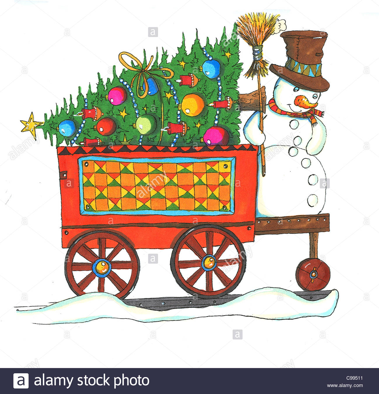 Weihnachts-Schlitten Stockfoto, Bild: 40154157 - Alamy