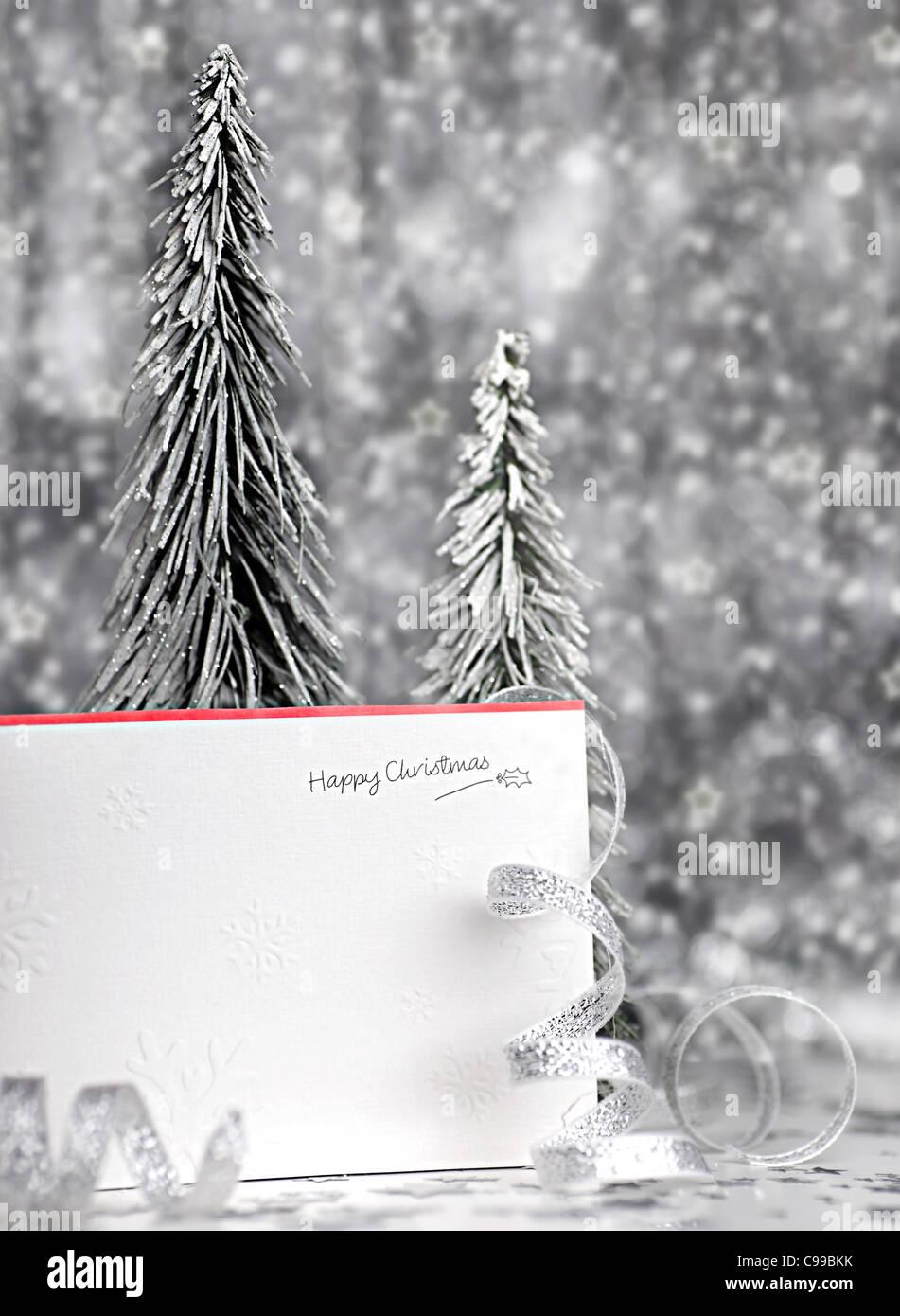 Frohe Weihnachten Weihnachtskarte Hintergrund mit blur, Beleuchtung ...