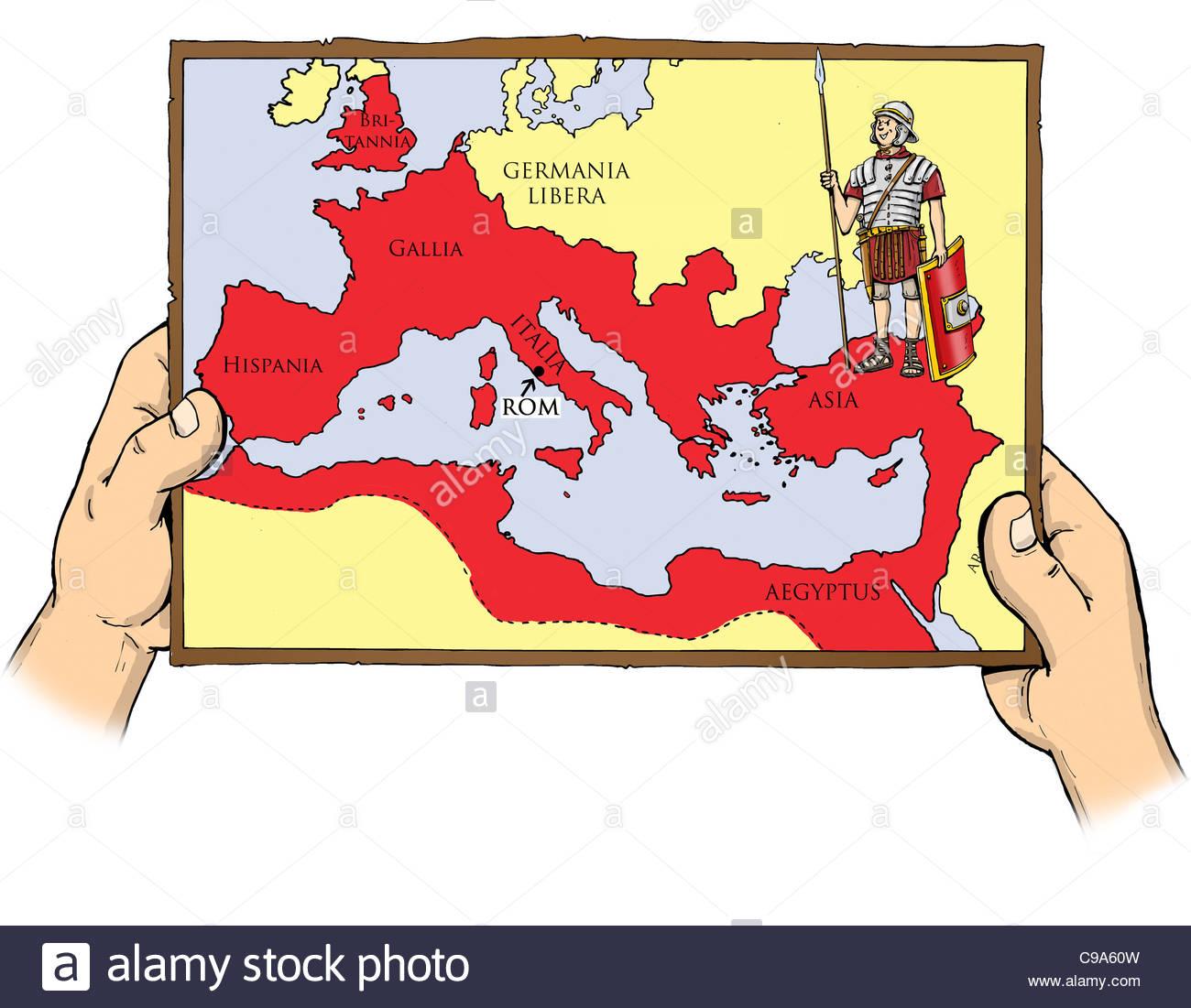 rome map stockfotos rome map bilder alamy. Black Bedroom Furniture Sets. Home Design Ideas