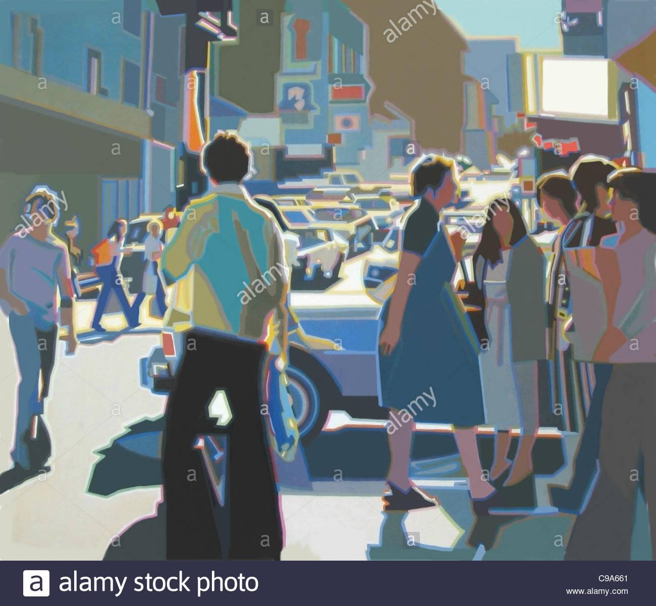 Stadt Stadt der Usa städtische Urbanität Städte Stadt Stadt Intercity urbanen städtischen urb Stockbild