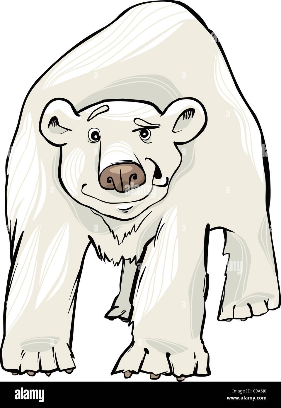 Cute Cartoon Polar Bear Ice Stockfotos & Cute Cartoon Polar Bear Ice ...