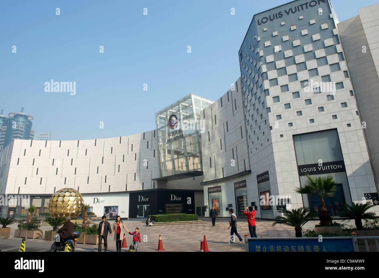 Heyi Avenue, ein Wahrzeichen Bereich der Luxuskonsum von Ningbo, Provinz Zhejiang, China.12-Nov-2011 Stockbild