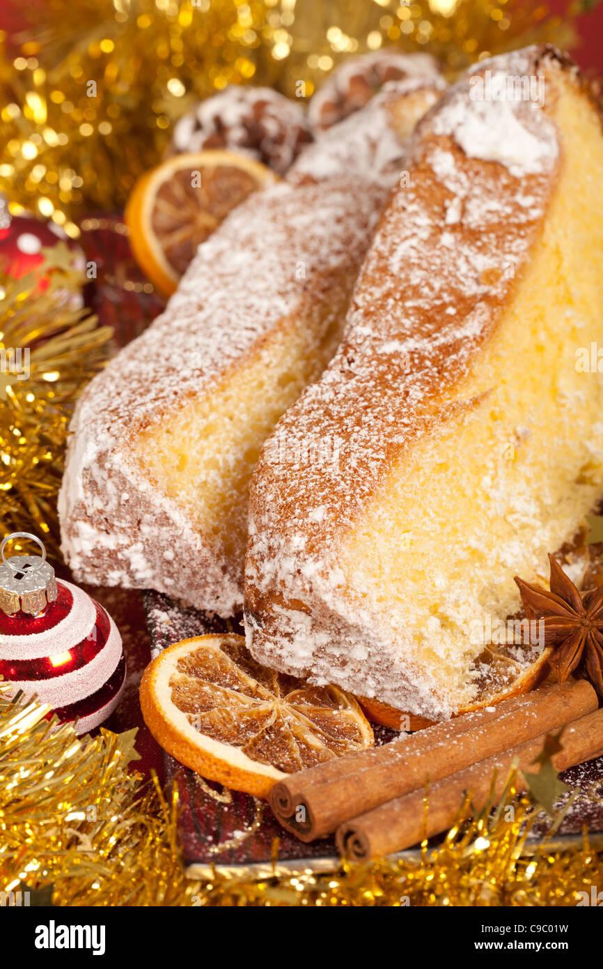 Typische Italienische Pandoro Kuchen Fur Weihnachten Stockfoto Bild