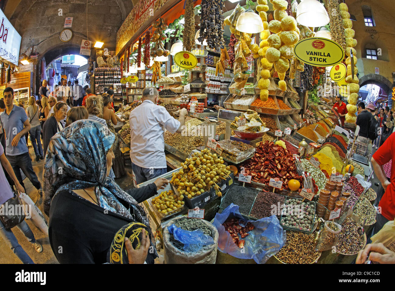 Misir Carsisi, Gewürzmarkt, Interieur, Istanbul, Türkei, Europa, Stockbild