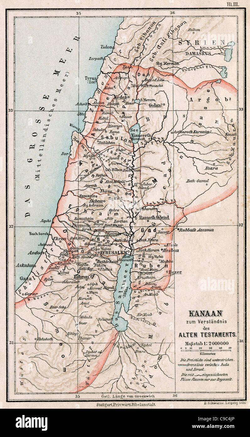 Landkarte Altes Testament - Top Sehenswürdigkeiten