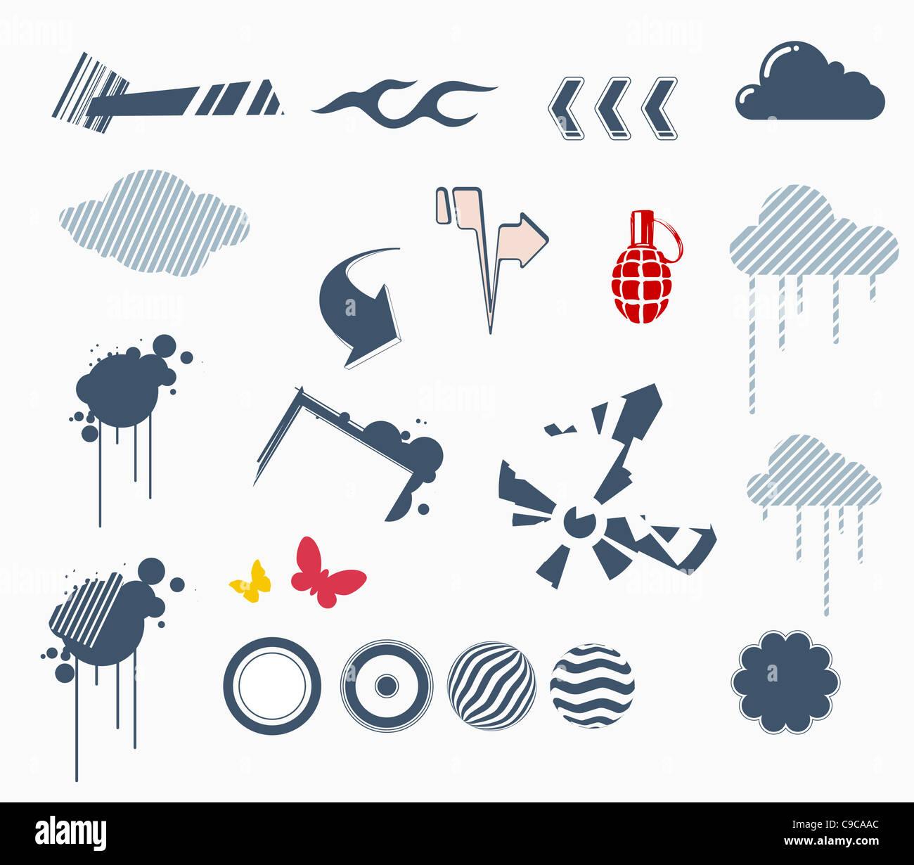 Reihe von Design-Elemente Stockbild