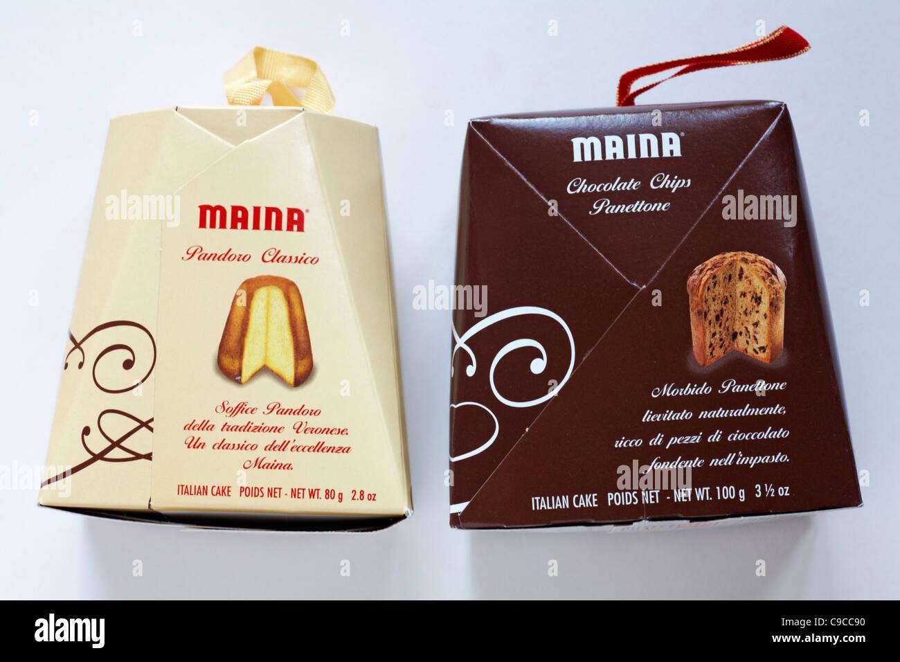 Maina Pandoro Classico Box Und Box Maina Schokolade Spane Panettone