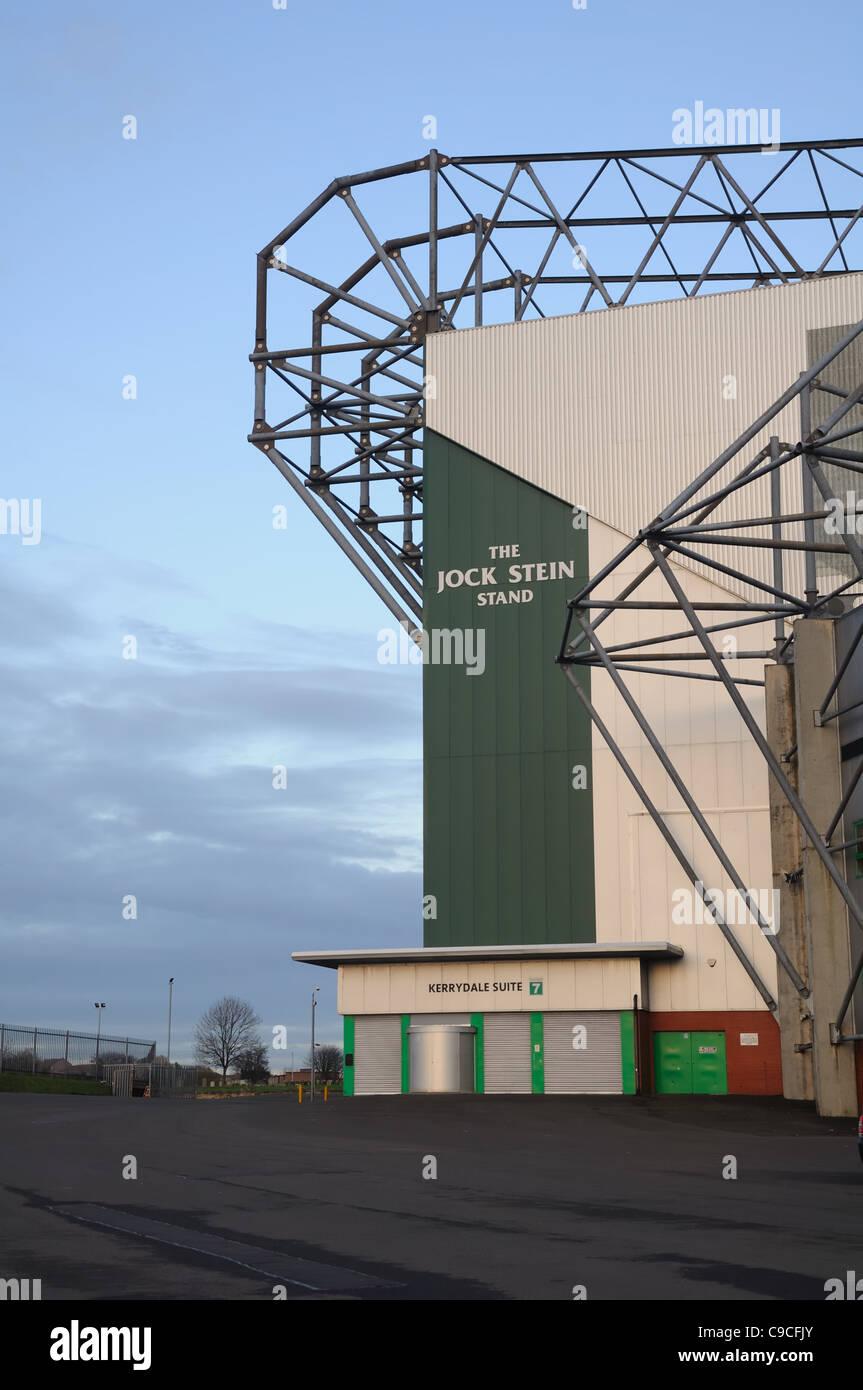 Jock Stein stehen bei Celtic Football Club in Glasgow Stockbild