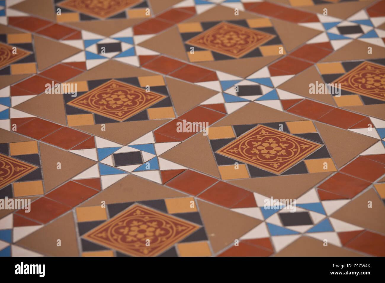 Melbourne Historische Gemusterten Ton Weg Boden Fliesen Gesehen - Fliesen historische muster