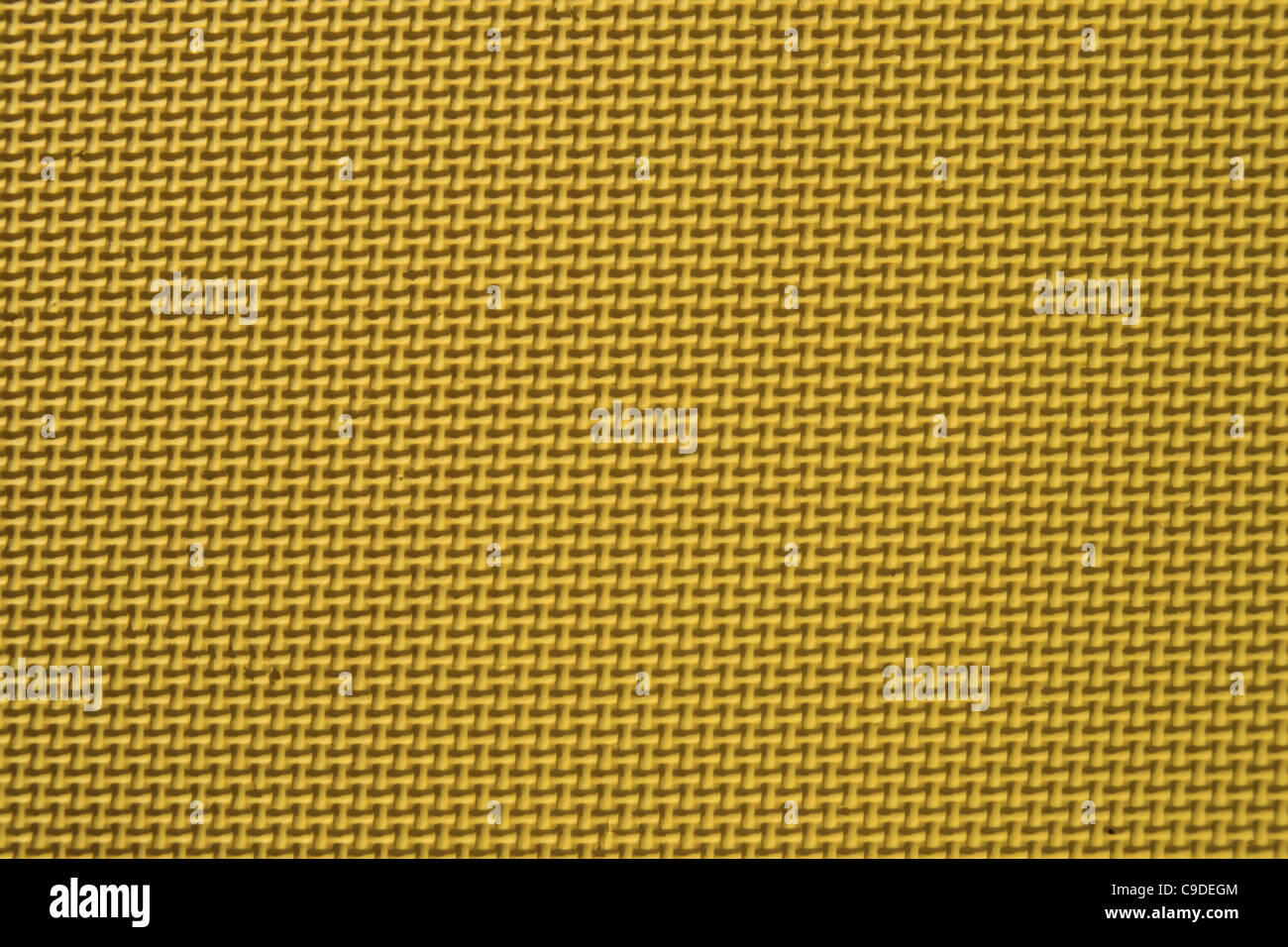 Detail des gelben strukturierte Spielmatte hautnah Stockfoto