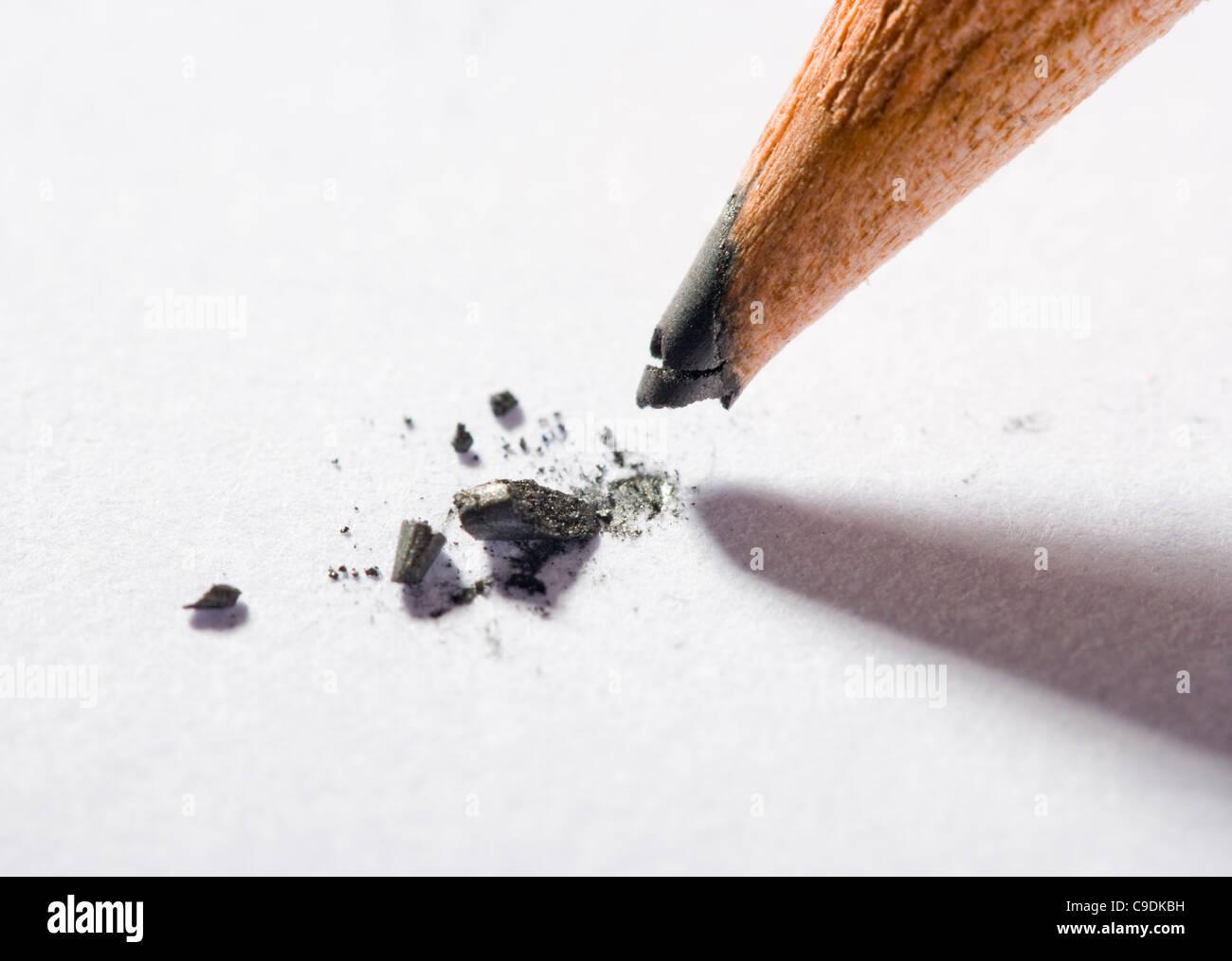Gebrochene Bleistift Stockbild