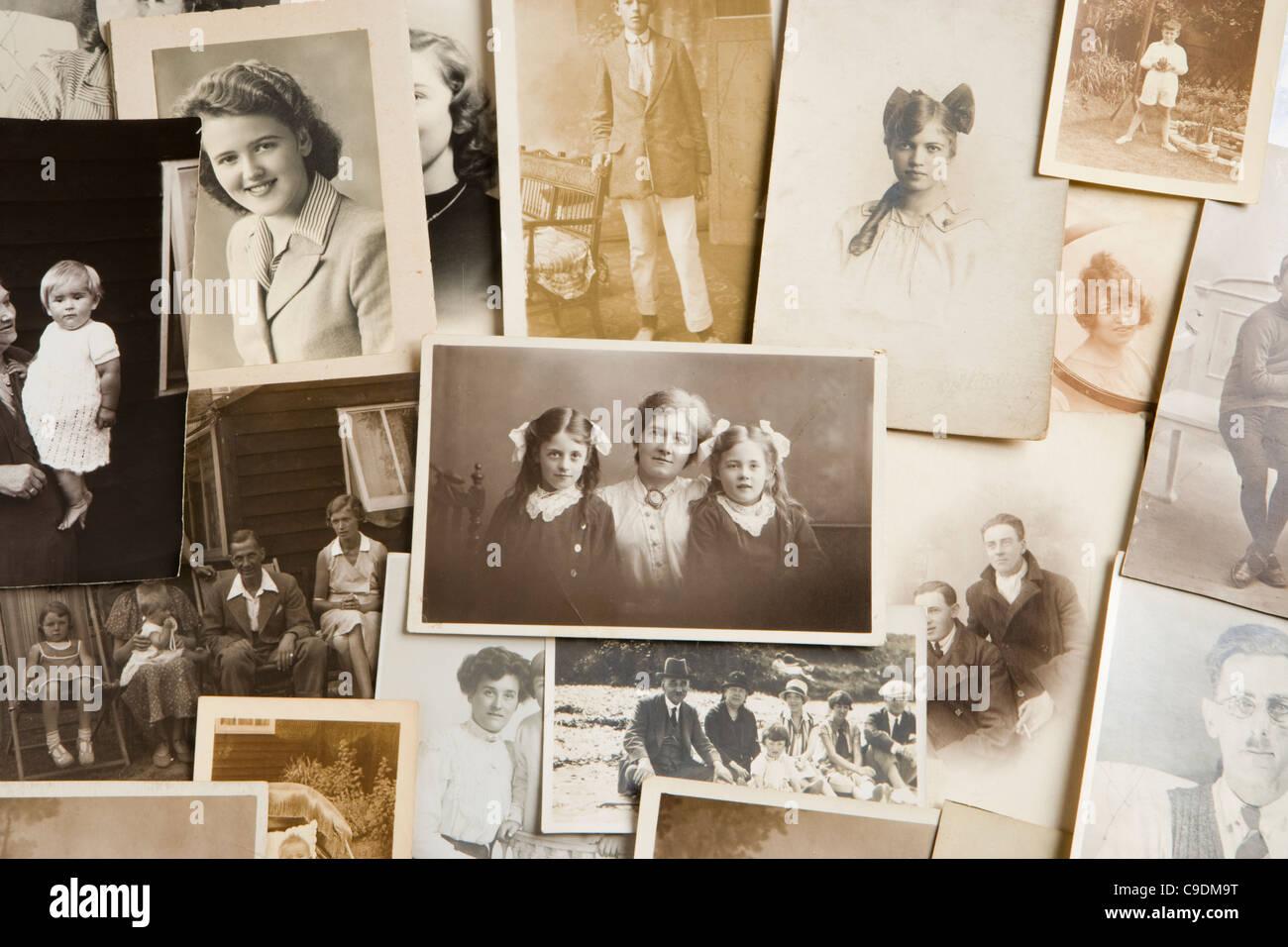 Alte Fotografien. Stockbild