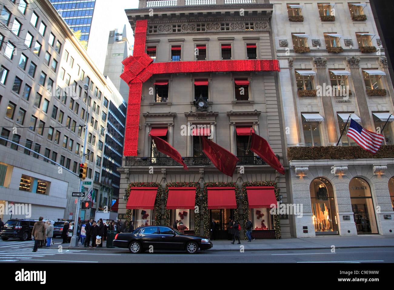 Cartier-Schmuck-Shop für Weihnachten Weihnachtseinkäufe Saison ...