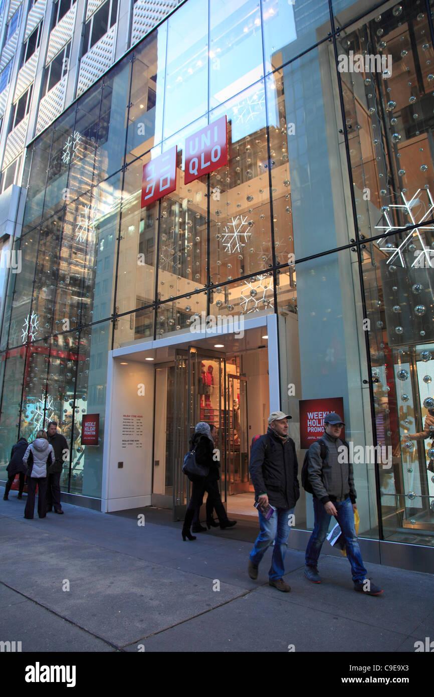 Japanische Händler Uniqlo neue USA-Flagship-Store eingerichtet für ...
