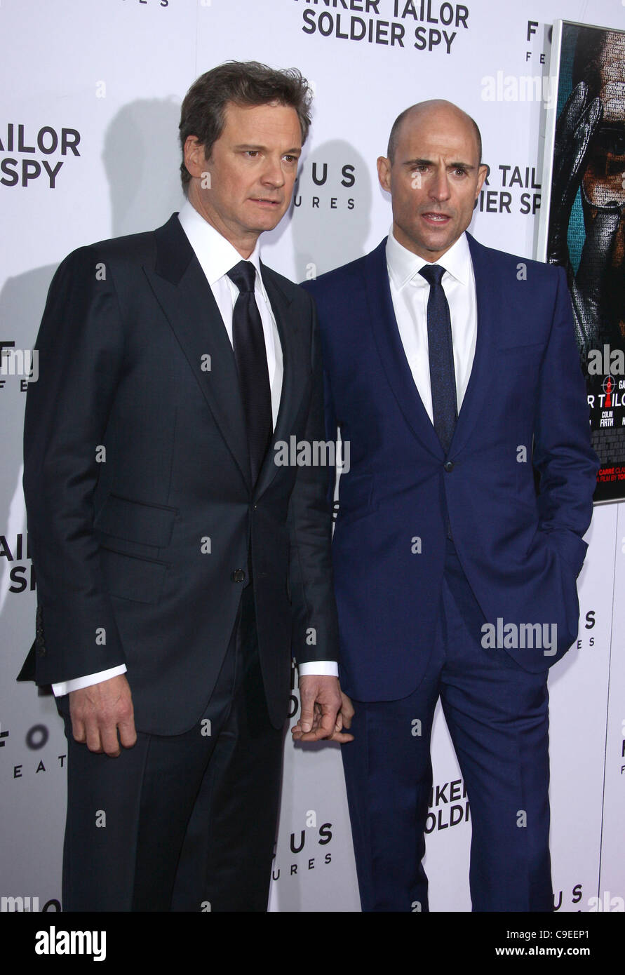 COLIN FIRTH & MARK STARKE TINKER TAILOR SOLDIER SPY. LOS ANGELES PREMIERE HOLLYWOOD LOS ANGELES Kalifornien Stockbild