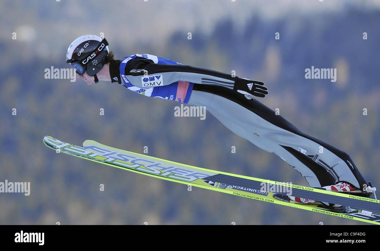 Skisprung Weltcup, Einzelwettkampf, Harrachov, Tschechische Republik, auf Sonntag, 11. Dezember 2011. Lukas Hlava Stockfoto