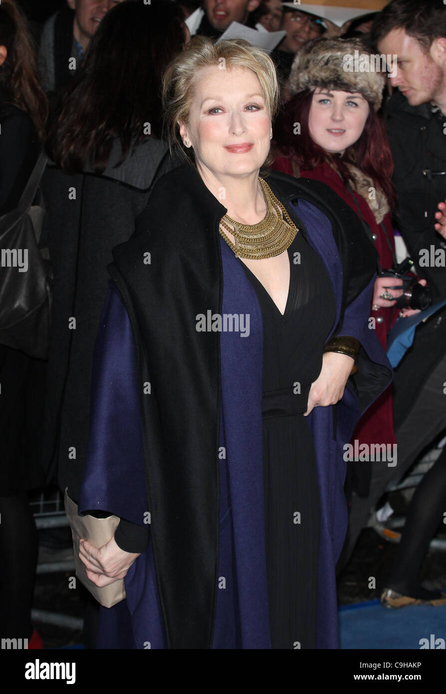 London, UK, 01.04.2012 Meryl Streep besucht die eiserne Lady - UK-Film-Premiere am BFI Southbank, London. Stockbild
