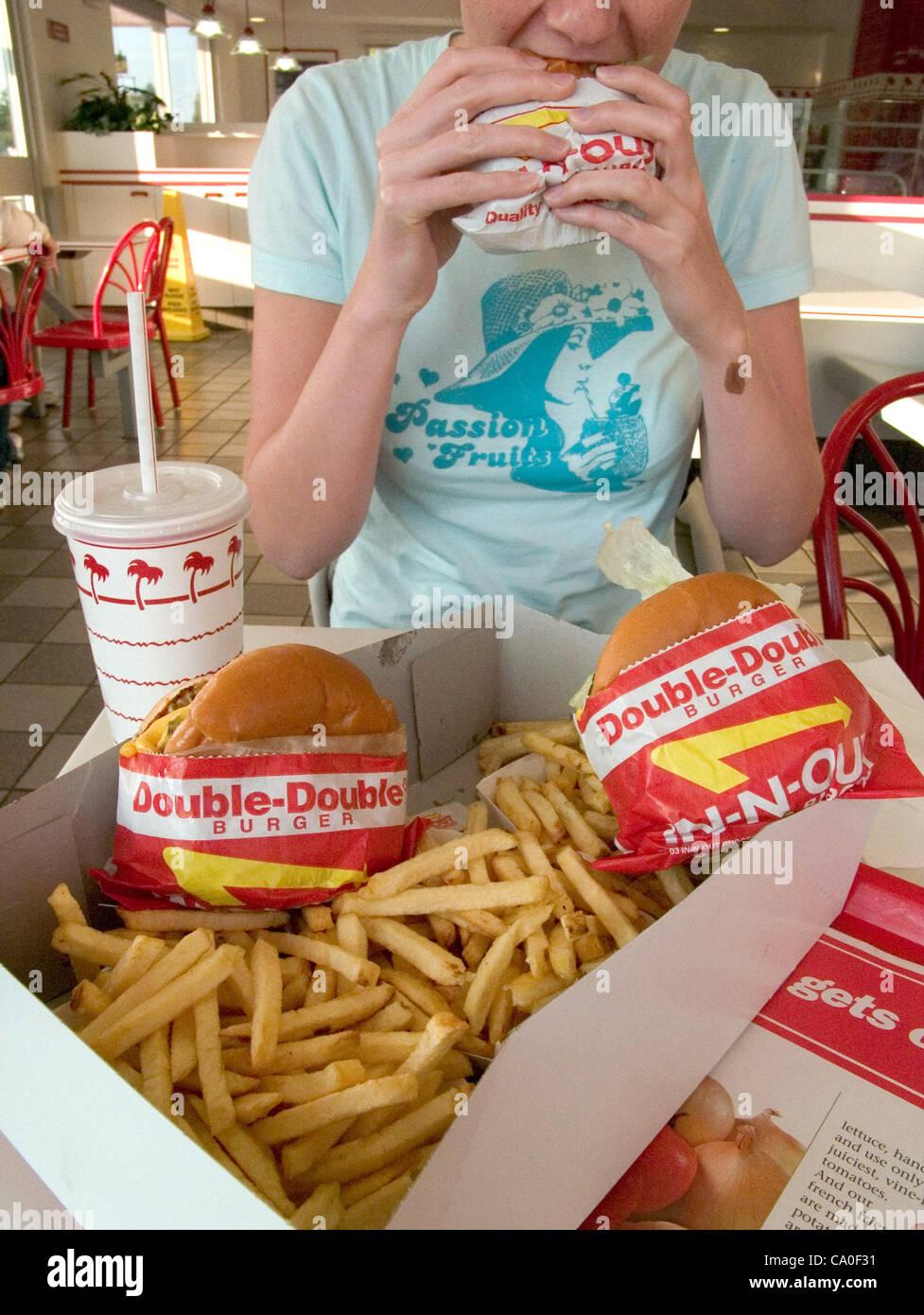 26 Oktober 2004 Fresno Kalifornien Usa Das Fleisch Bei In N Out