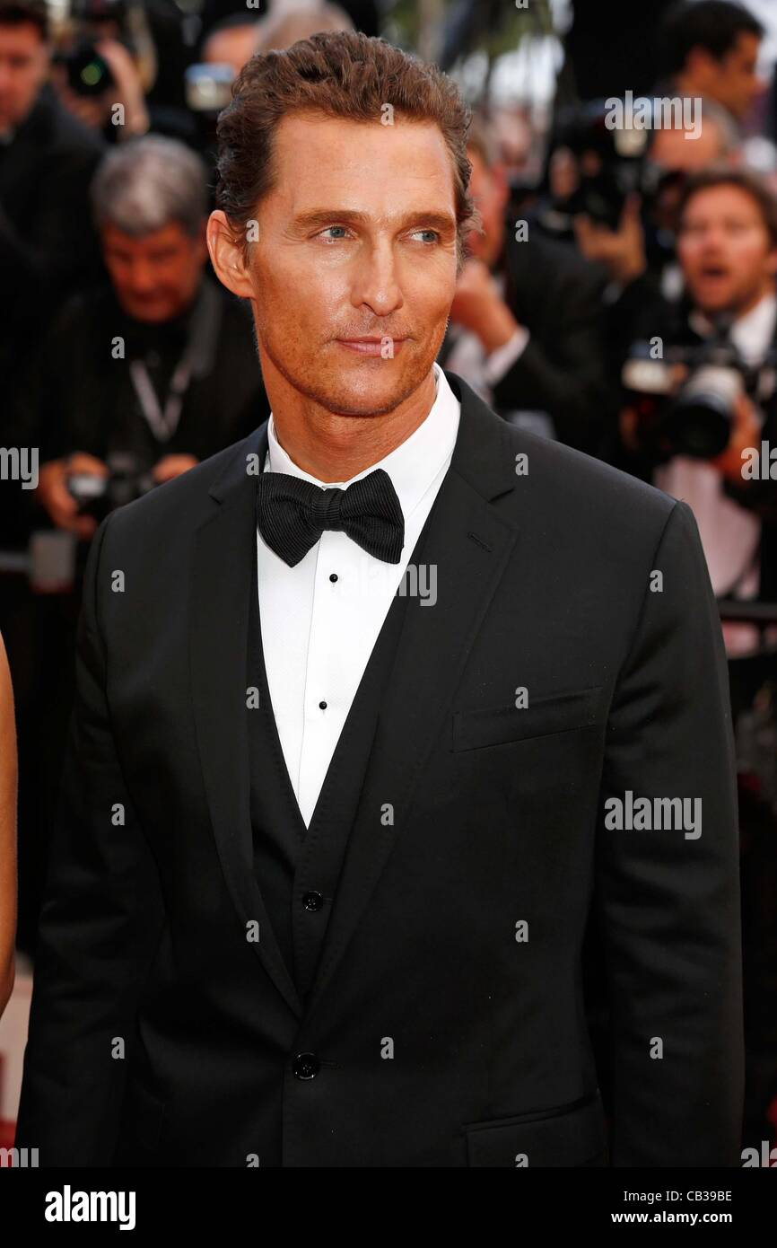 26. Mai 2012 - Hollywood, Kalifornien, USA - MATTHEW McCONAUGHEY.Mud premiere.65. Cannes Film-Festival.Cannes, France.May 26, 2012. (Kredit-Bild: © Roger Harvey/Globe Photos/ZUMAPRESS.com) Stockfoto