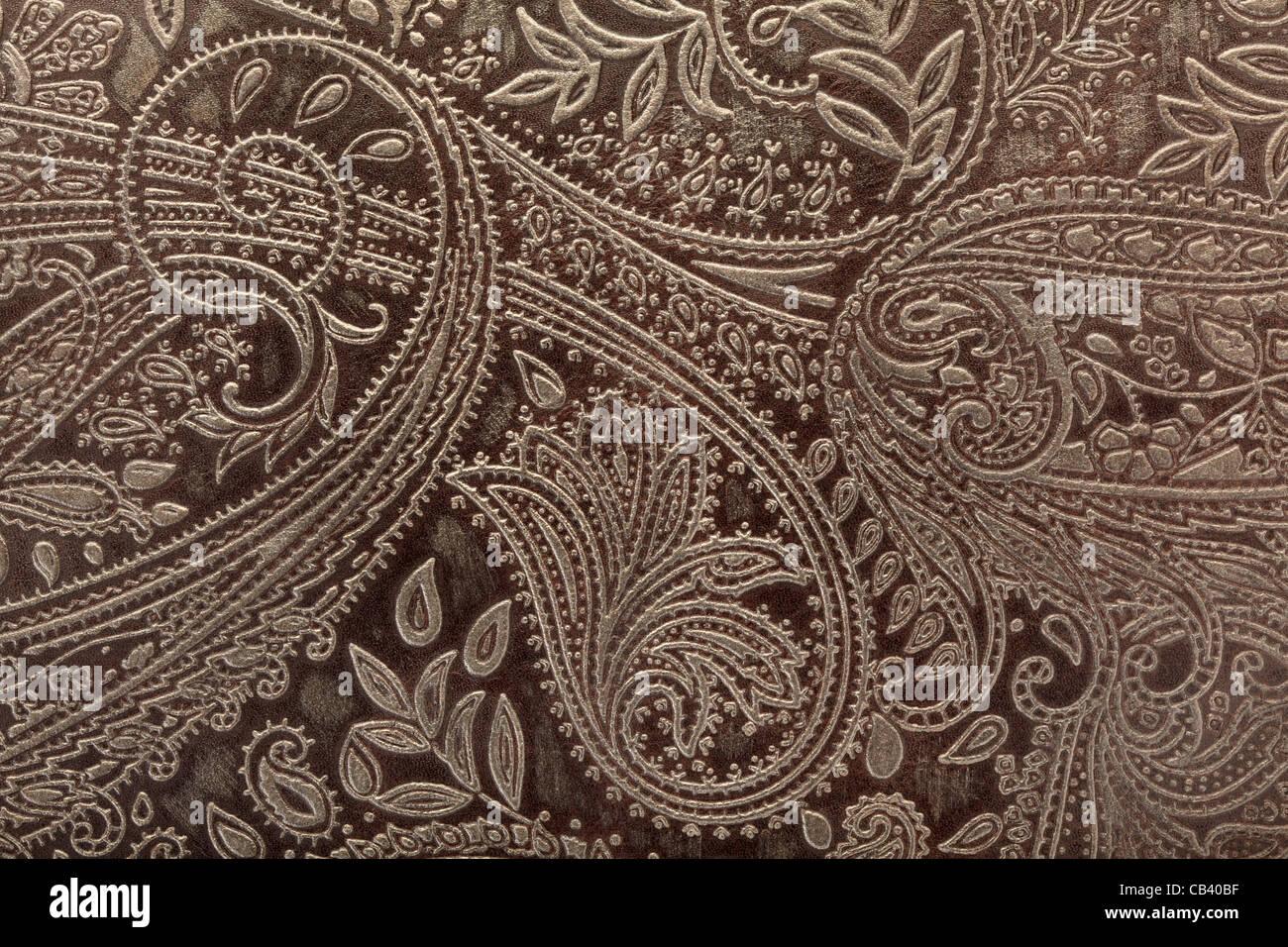 Leder-Blumenmuster-Hintergrund Stockbild