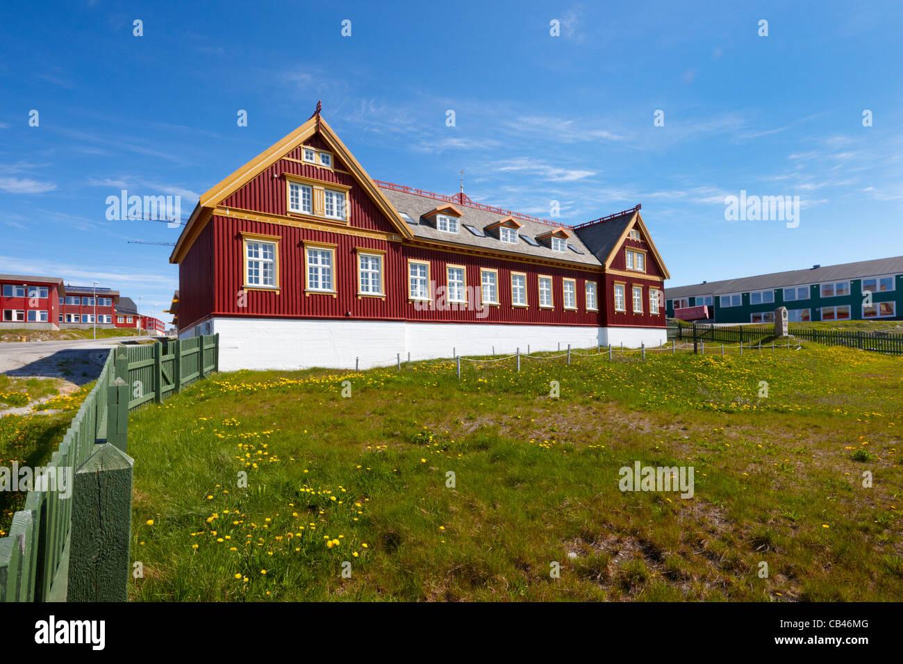 Ilinniarfissuaq Teachers Training College von Grönland, Nuuk Stockbild