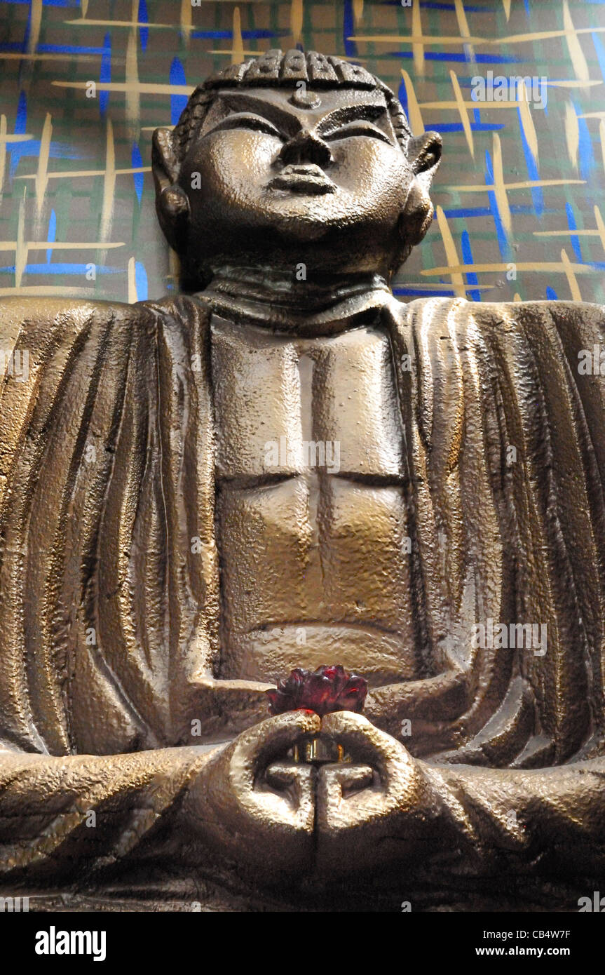Papier Pappmaché Figur im Old Pasadena Äquator restaurant Stockbild