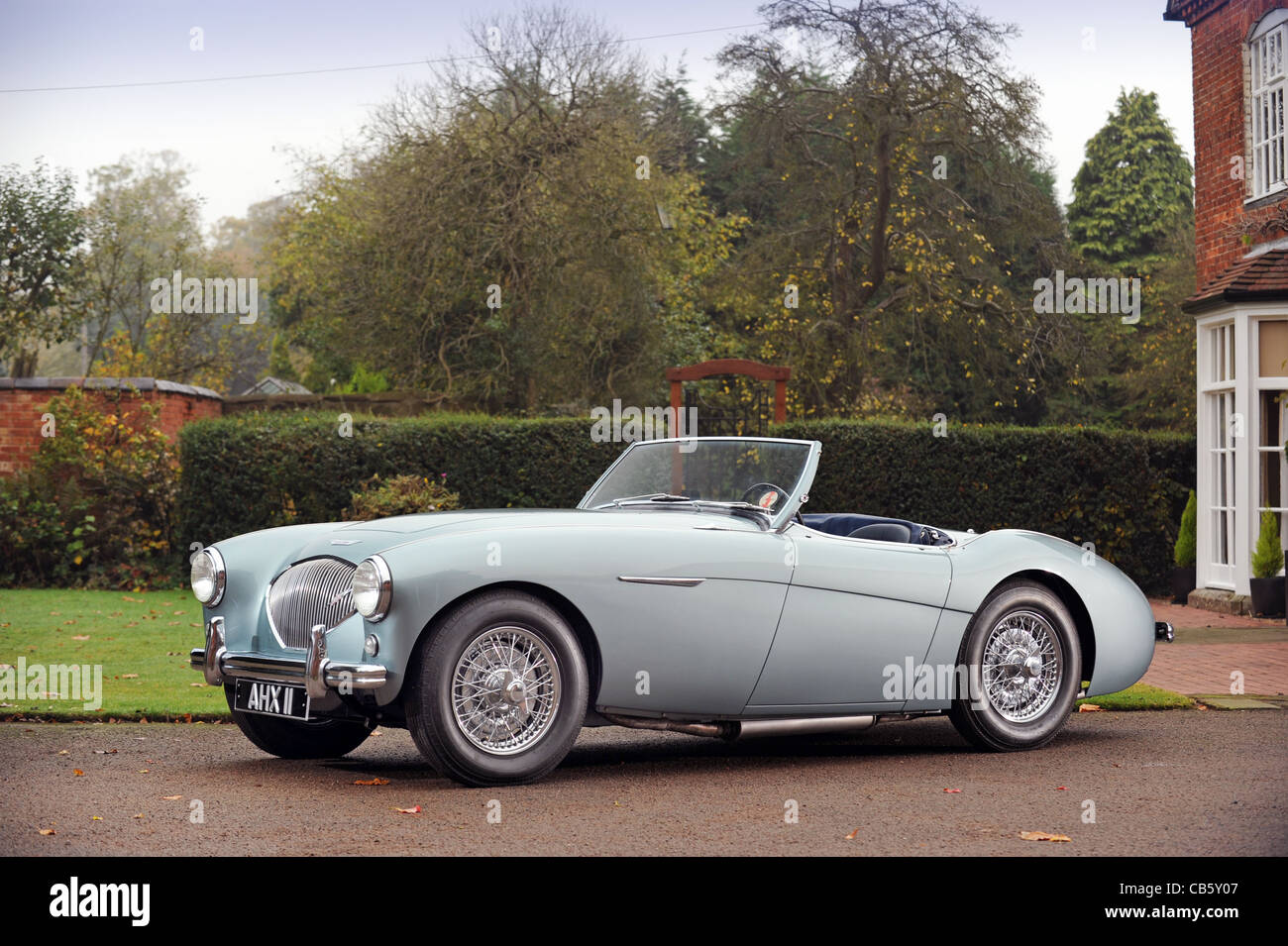 1953-Austin Healey 100-Pre-Produktion-Prototyp, der Ex Turin Motorshow Auto Stockbild