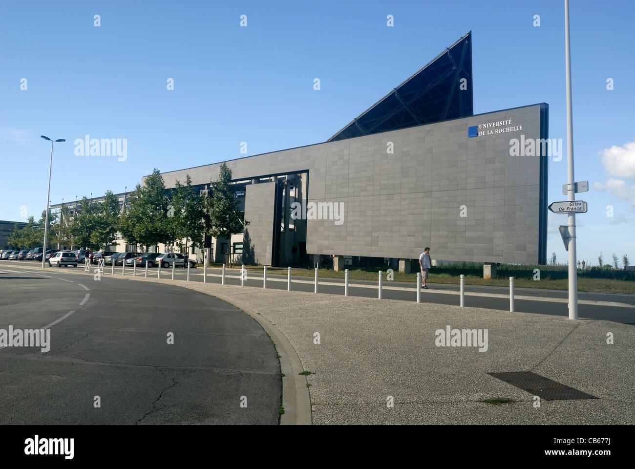 Universität von La Rochelle liegt an der Westküste Frankreichs in der Region Charente-Maritime. Stockbild