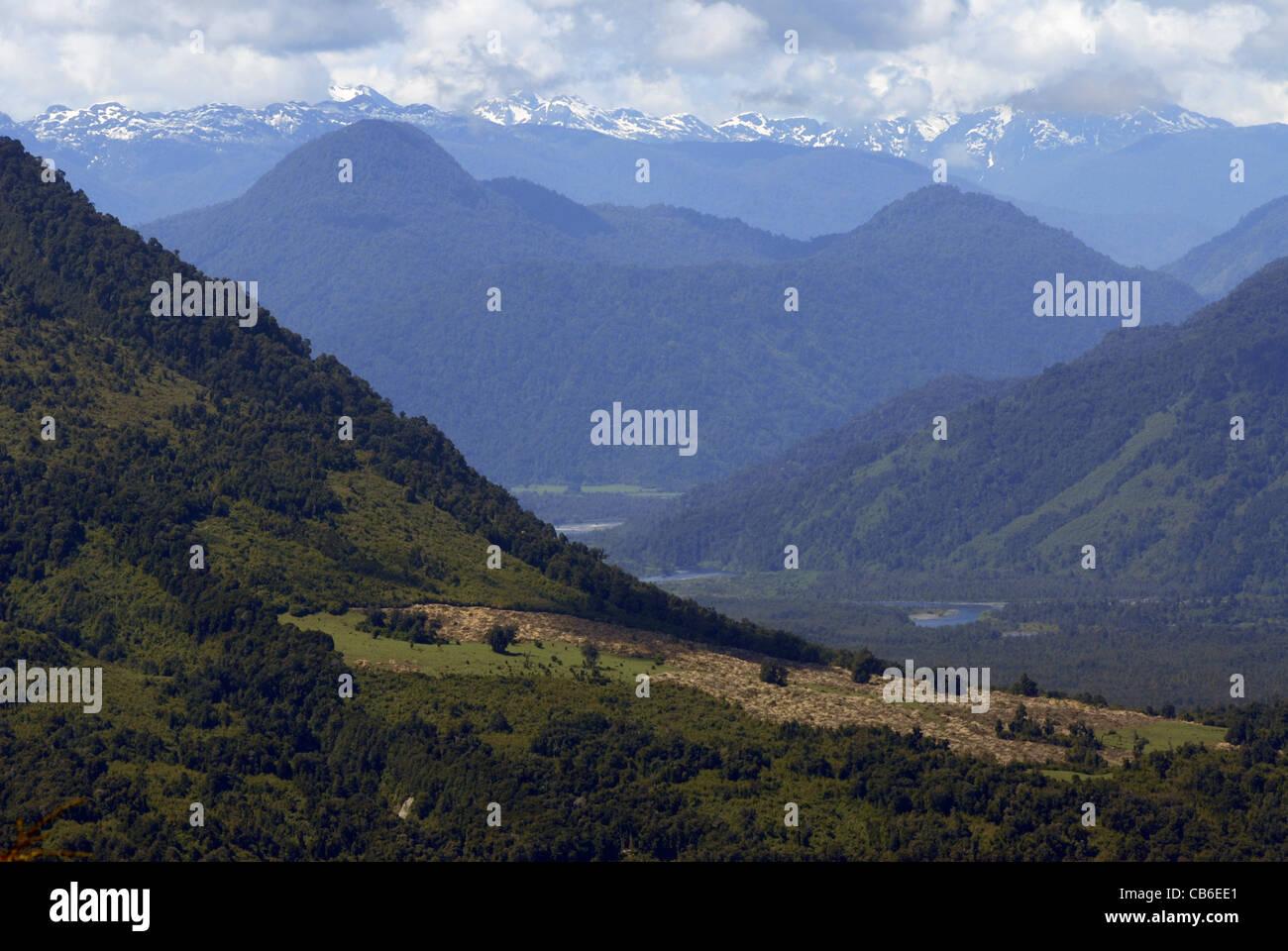 Nationalpark Vicente Perez Rosales, Lake District, Chile Stockbild