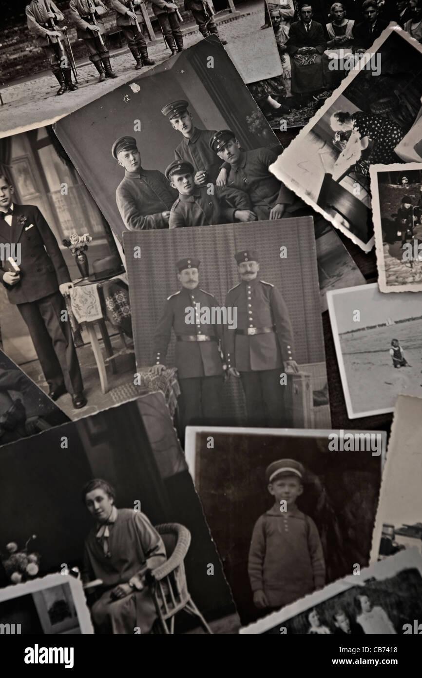 historische Fotos aus den 1910er Jahren, 20er und 30er Jahre Stockbild