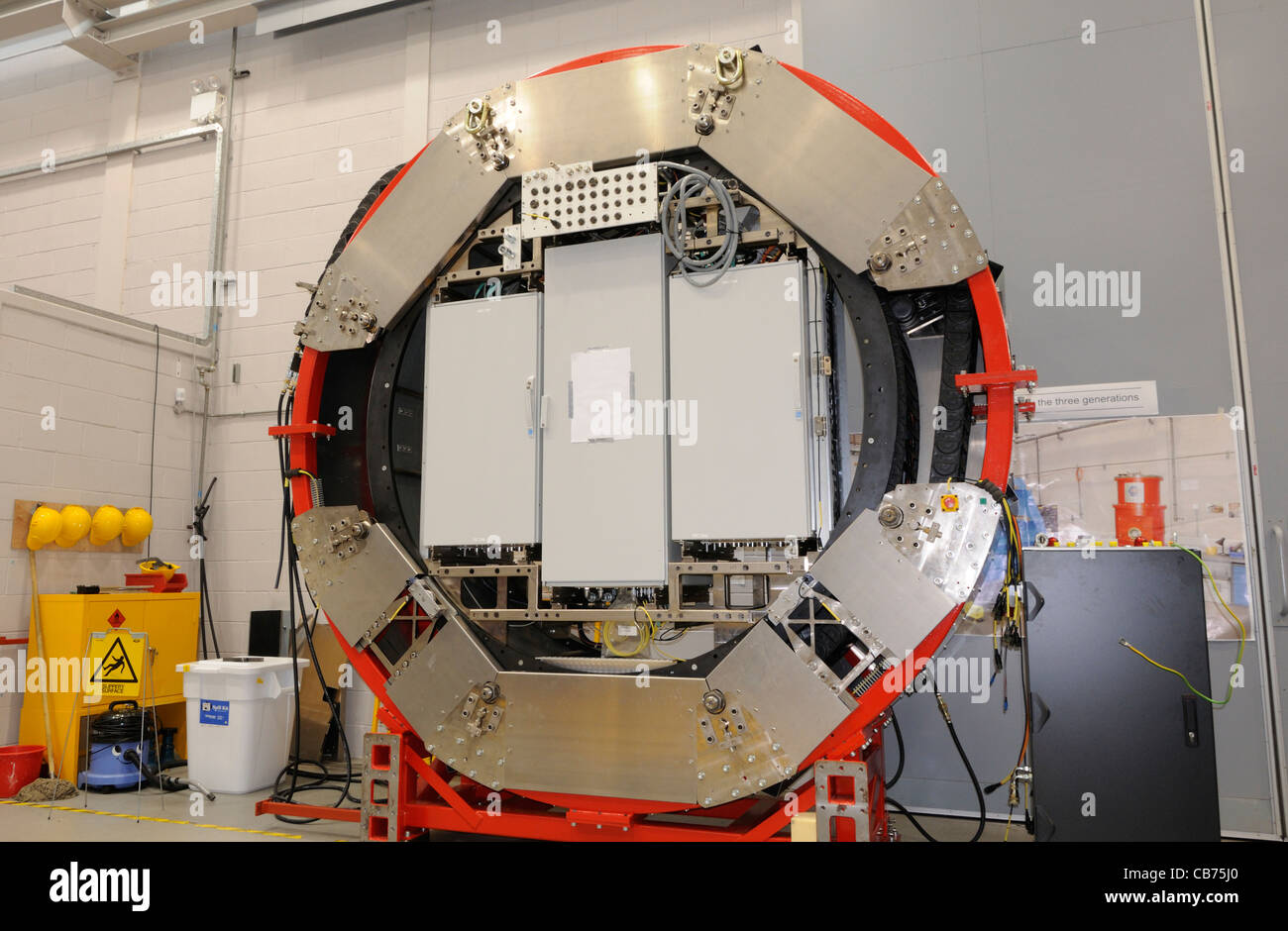 Ein Kabel-Rotator (CACOR) im Crawford Main Labor von UK Astronomy Centre, Royal Observatory Edinburgh Stockbild