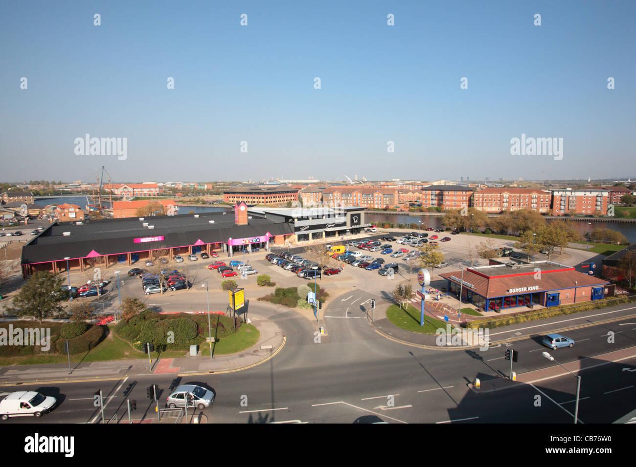 Chandlers Wharf Freizeit Regelung, Stockton-on-Tees Stockfoto