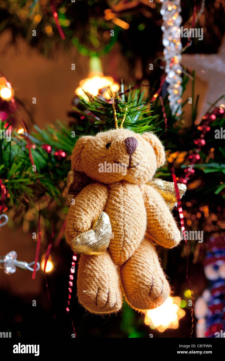 Teddy Weihnachten.Weihnachten Teddy Bear Auf Baum Stockfoto Bild 41348097 Alamy