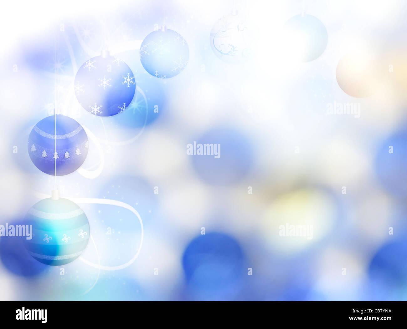 Abstrakte Winter Hintergrund mit Weihnachtsschmuck und Bokeh Stockbild