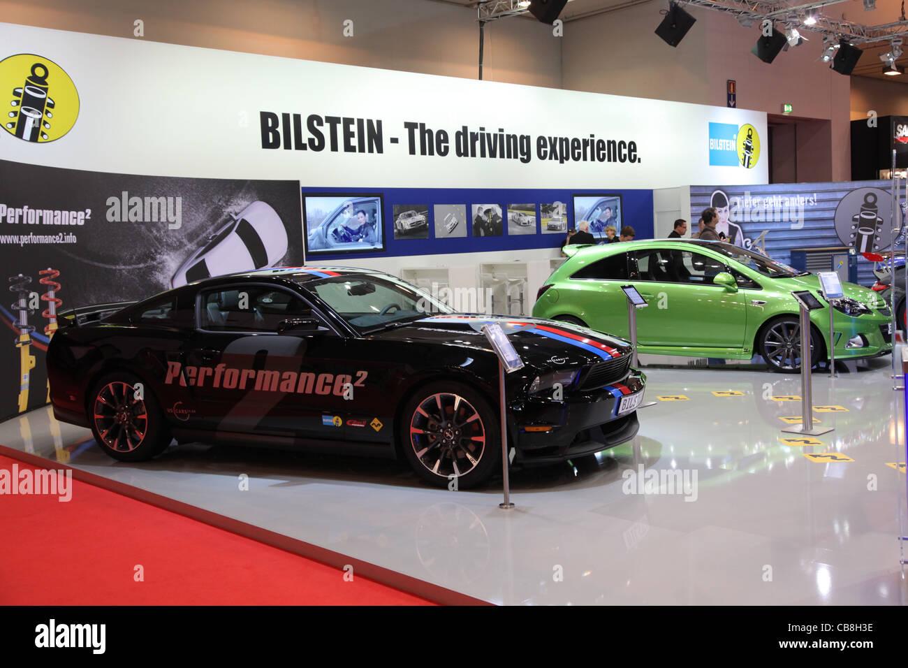 BILSTEIN Tuning stehen auf der Essen Motor Show in Essen, Deutschland, am 29. November 2011 Stockbild