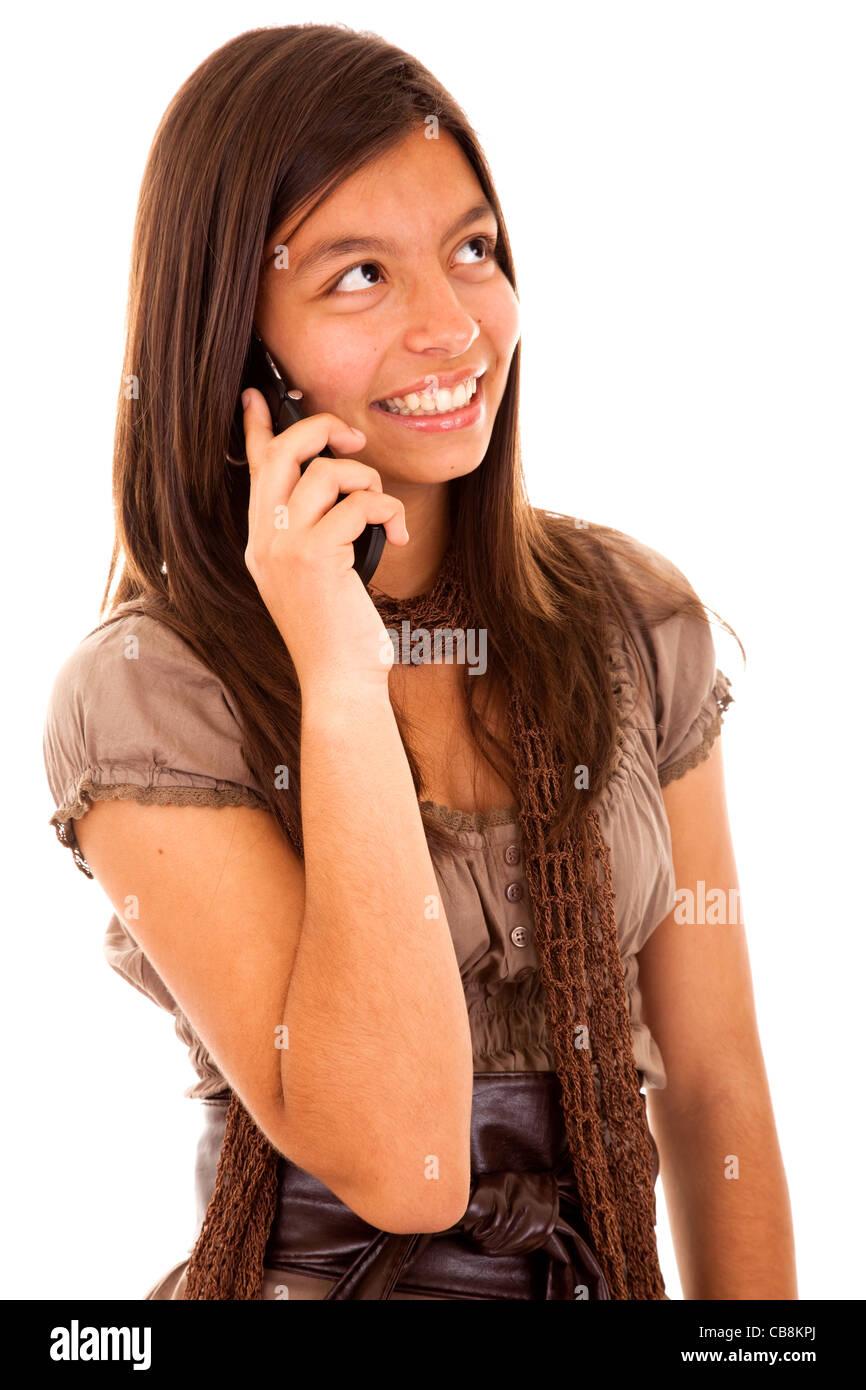 junge sch ne teenager mit dem handy mit ihren freunden sprechen stockfoto bild 41373098 alamy. Black Bedroom Furniture Sets. Home Design Ideas