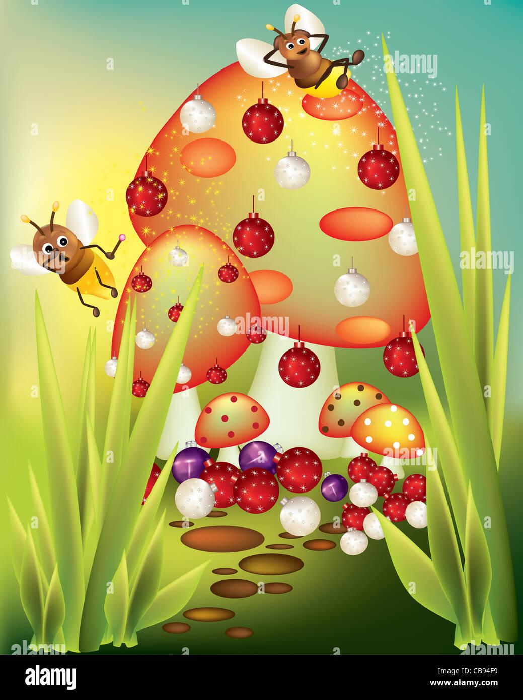 Weihnachten im Wunderland Stockbild