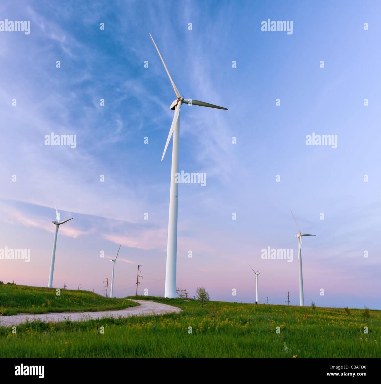 Windkraftwerk Stockbild