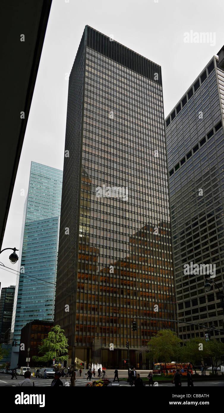 Seagram Building In New York Von Mies Van Der Rohe Und Philip