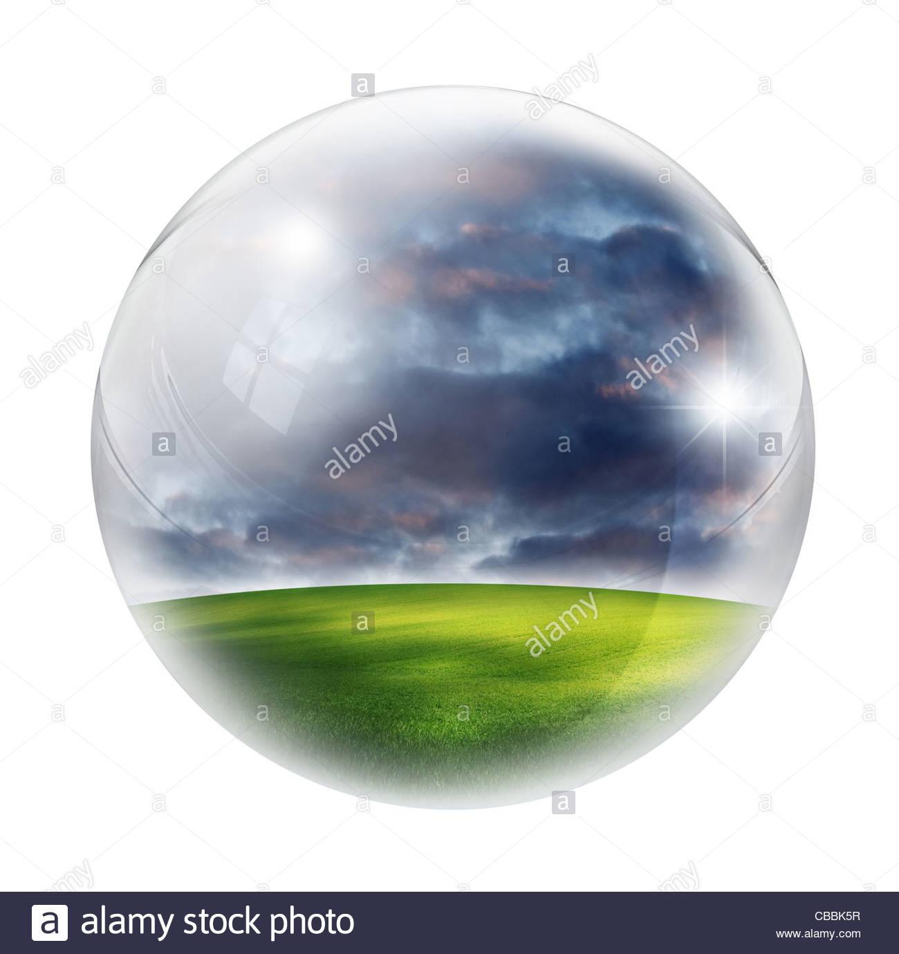 Landschaft in der Blase Stockbild